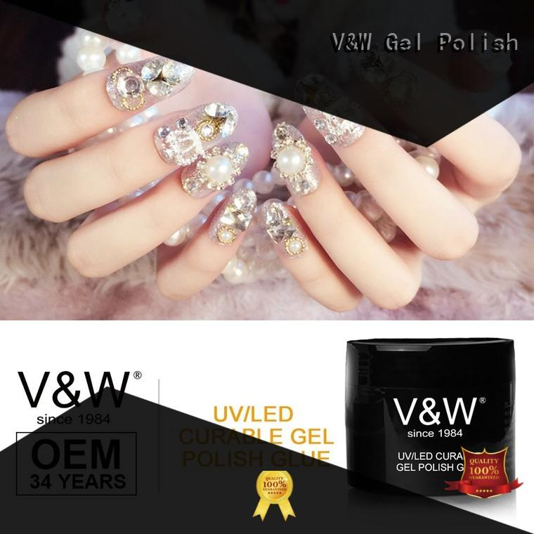 VW best best natural nail polish glitters party