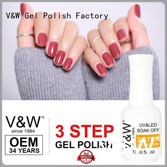 VW glitter uv gel nails varnish for office