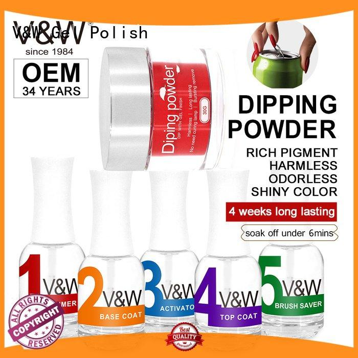 VW gel dip powder polish remove
