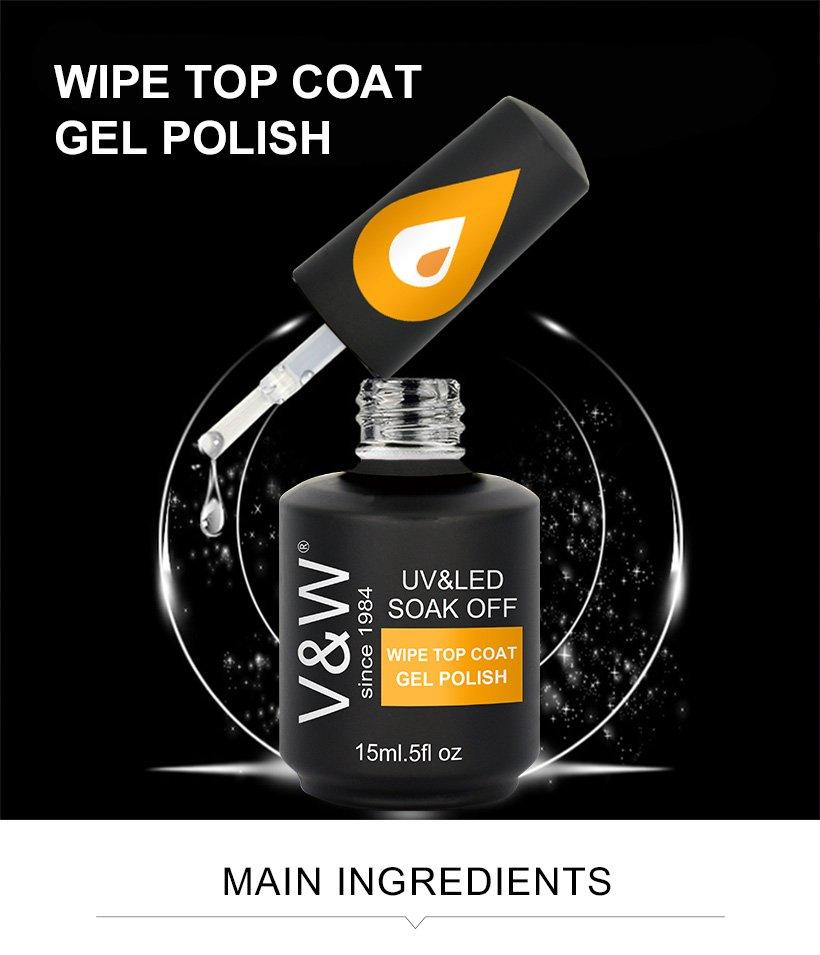VW-Professional Uv Gel Nail Salon Wipe Top Coat Gel Polish Manufacture