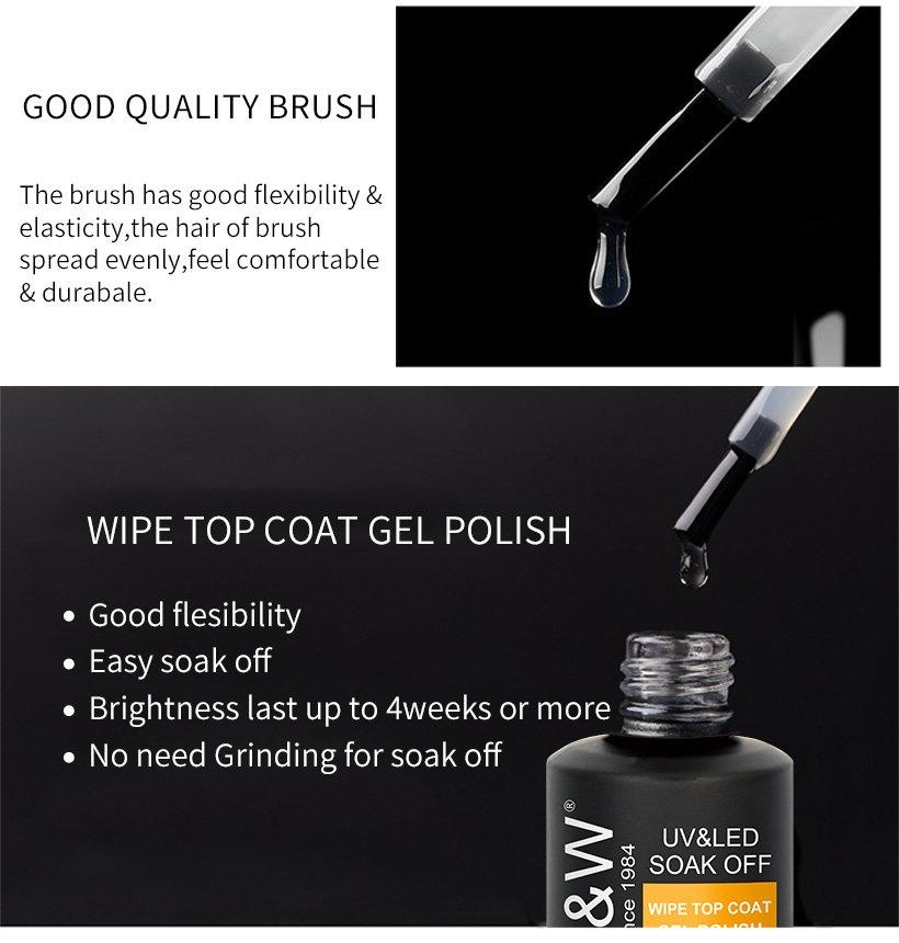 VW-Wipe Top Coat Gel Polish | Uvled Gel Polish | Vw Gel Polish-2