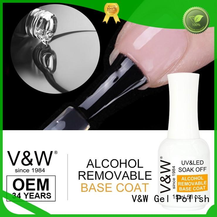 Alcohol Removable Soak Off Uv Led Base Coat Nail Gel Polish For Natural Nails