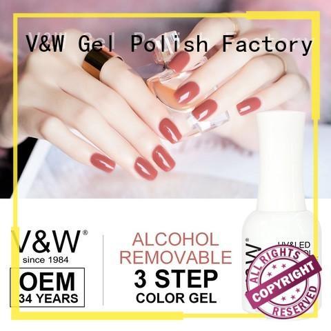 VW glitter uv gel nail polish at home varnish for daily life