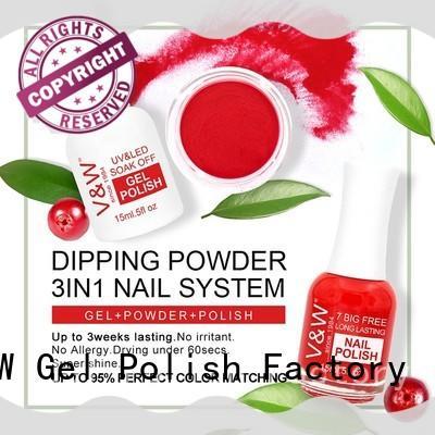VW powder powder nail polish supply for party