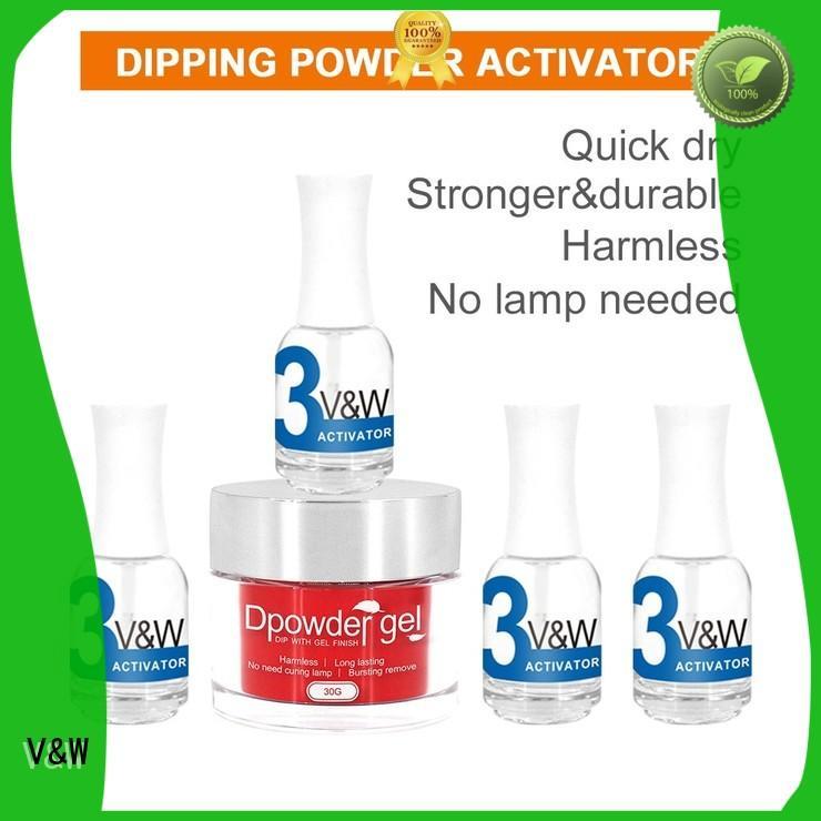 powder color dip powder nail polish VW Brand