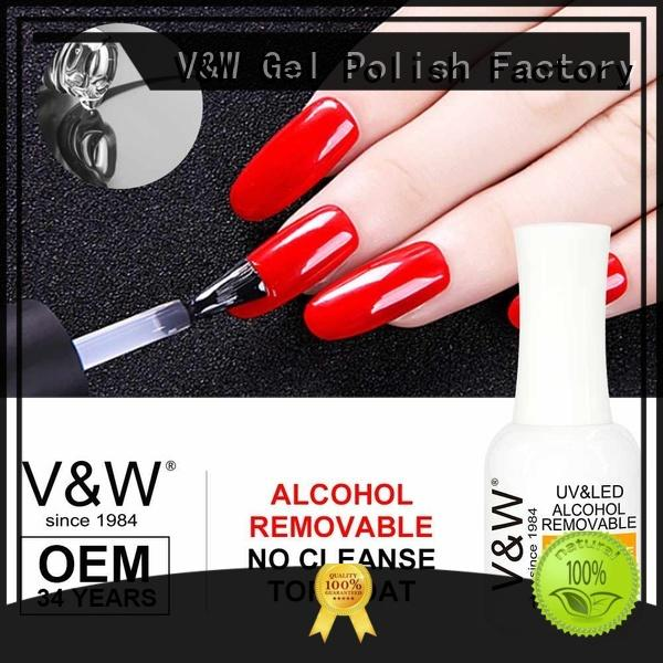 VW shine gel polish without uv mood changing for office