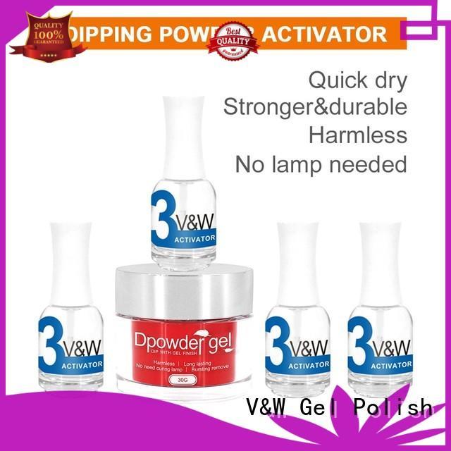 Dipping powder activator