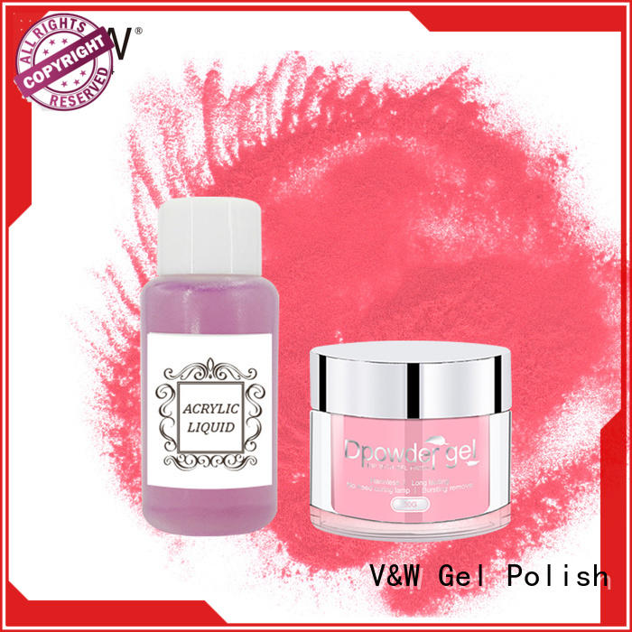 VW dipping quick dip acrylic powder system smoothly for wedding
