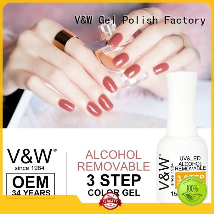 VW quick dry uv gel nail colours mood changing for evening party