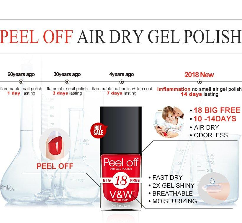 VW-Best Peel Off Air Dry Moisturizer Color Gel Iridescent Gel Nail Polish-1