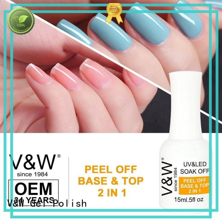 Hot 3d UV Gel Polish Wholesale glitters VW Brand