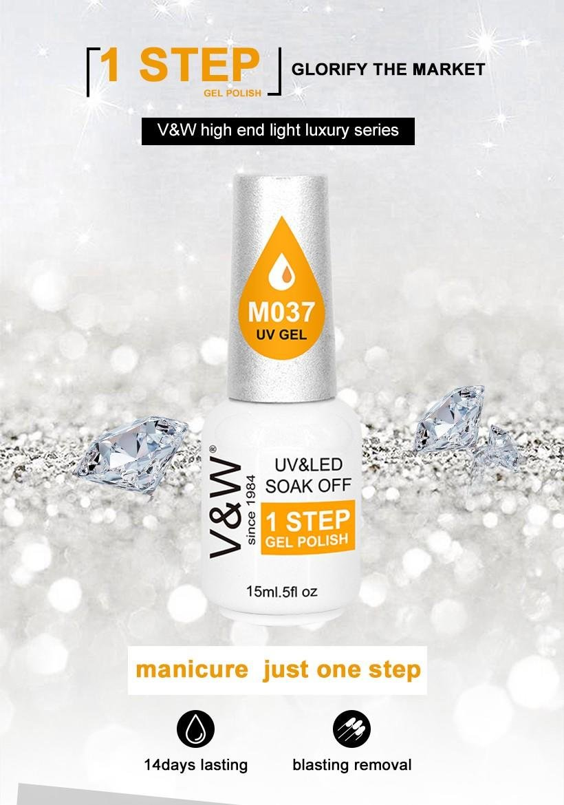 VW-One Step Gel Nail Polish No Base No Top Coat Gel Polish | Uvled Gel Polish-1