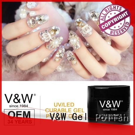 VW art new gel nail polish without uv light for office