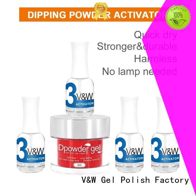 VW Brand color art nail matching dip powder polish