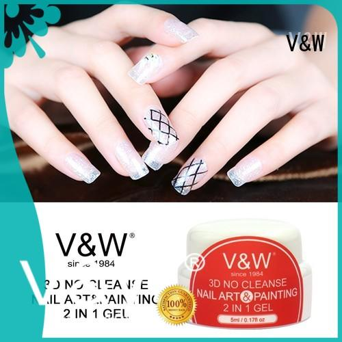 VW metallic speckled nail polish for wedding
