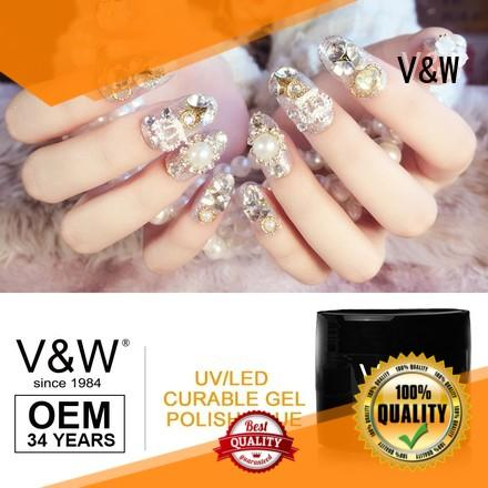 VW quick dry uv nail paint varnish party