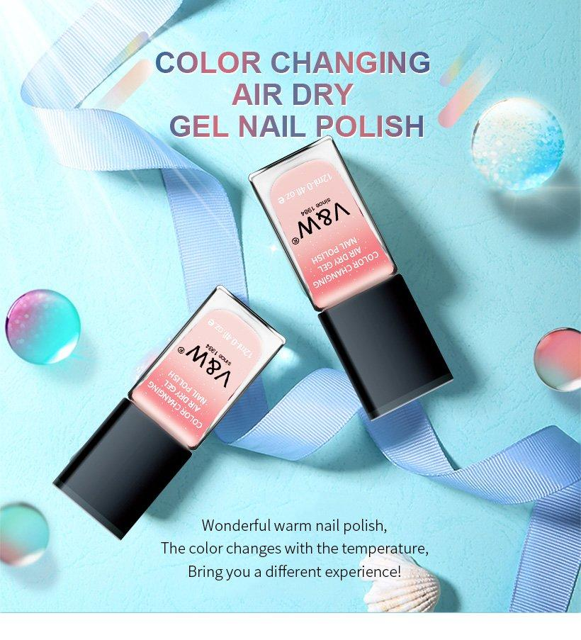 VW-Color Changing Air Dry Gel Nail Polish | Uvled Gel Polish | Vw Gel Polish