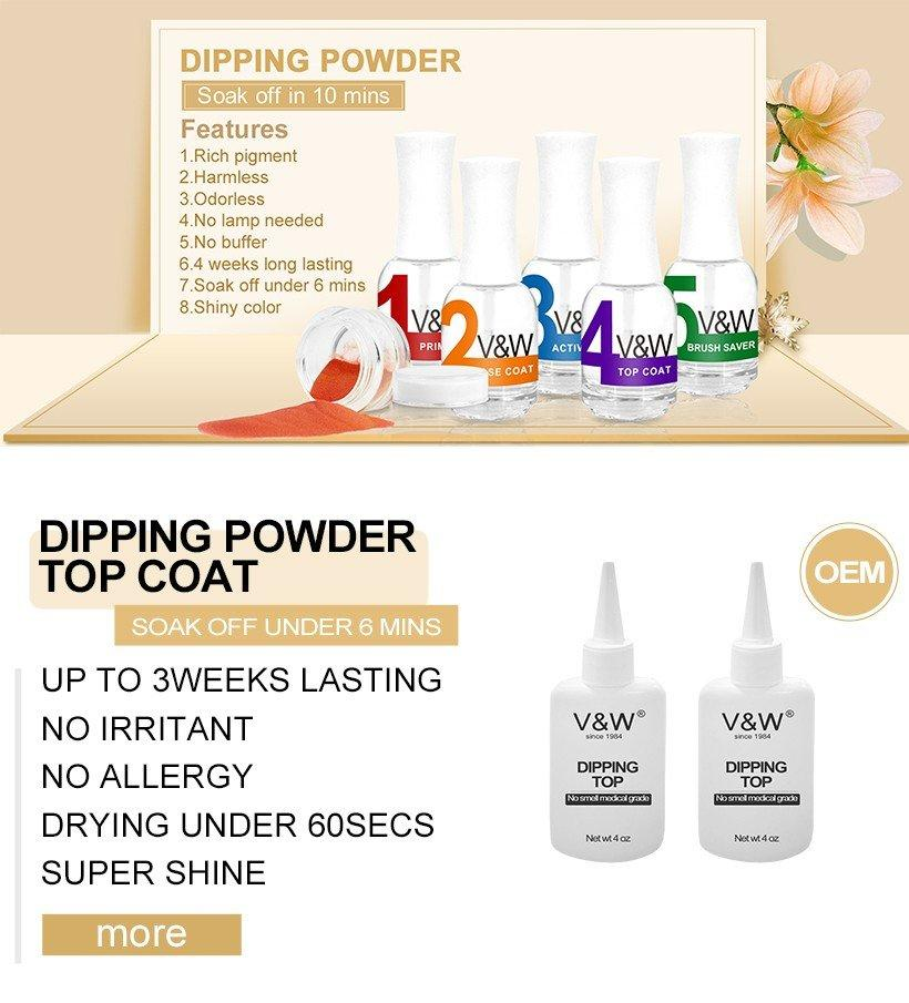 VW odorless solar nail powder colors smoothly for party-1