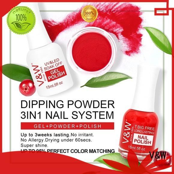 VW Brand matching easy system dip powder nail polish nail