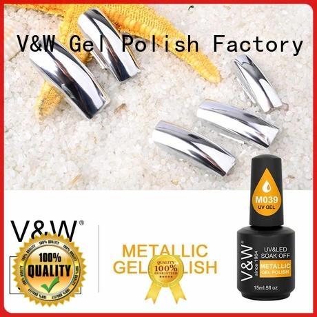 VW metallic uv gel nail set manufacturer for evening party