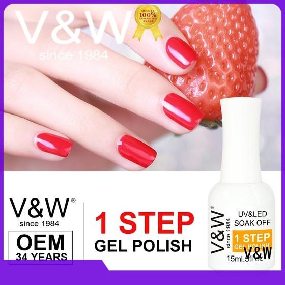 VW quick dry color uv gel nails varnish for home