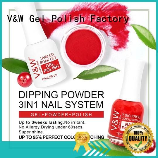 VW activator acrylic powder nail polish easy clean for dinner
