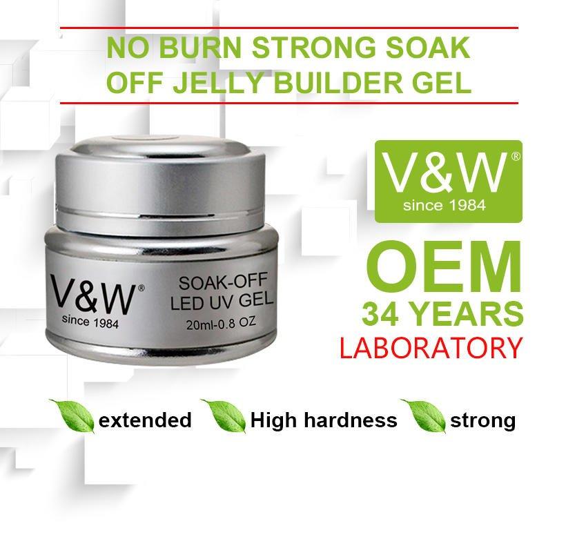 VW-No Burn Strong Soak Off Jelly Builder Gel Extend Uvled Nail Gel Polish-2