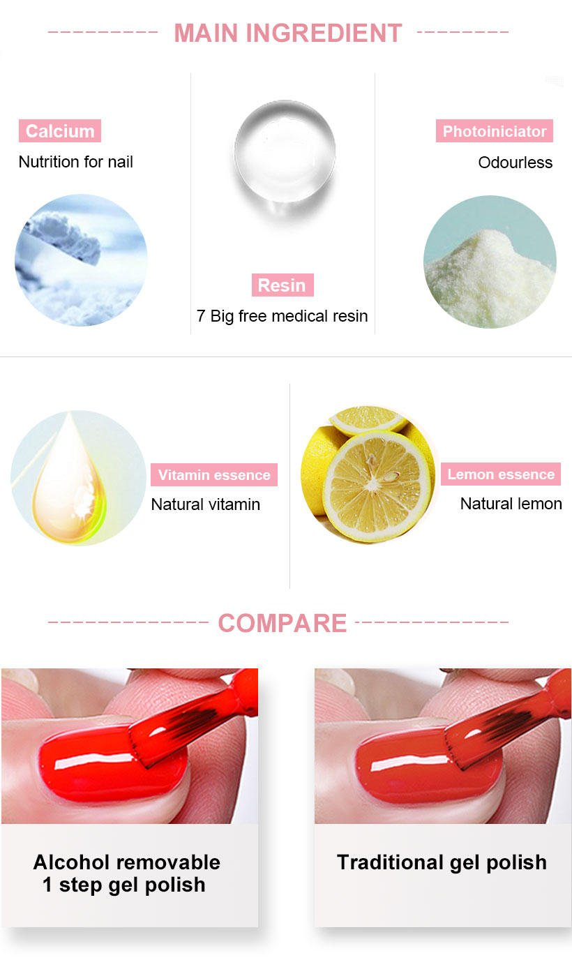 VW-Find Alcohol Removable One Step Gel Uvled Gel Nail Polish More Than 1000-2
