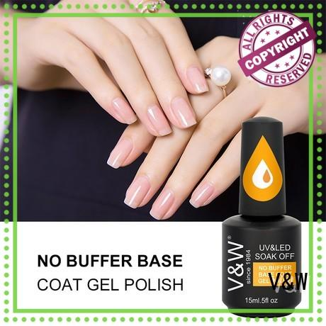VW glitter uv gel nail colors mood changing for office