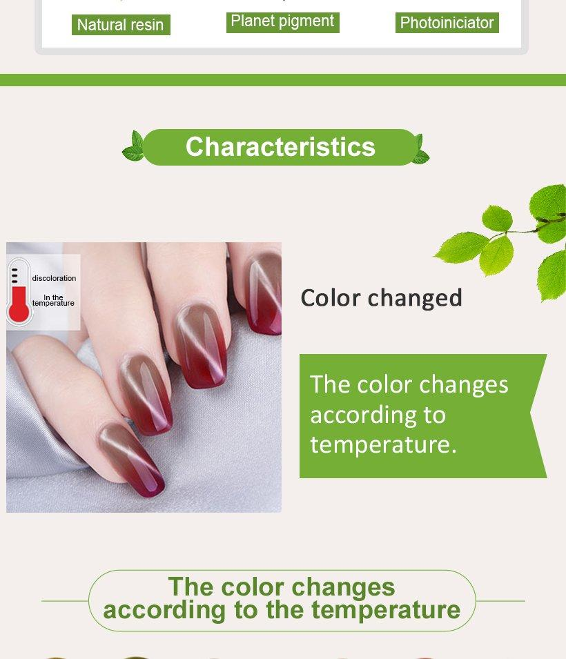 VW odorless wholesale clear nail polish mood changing for daily life-3