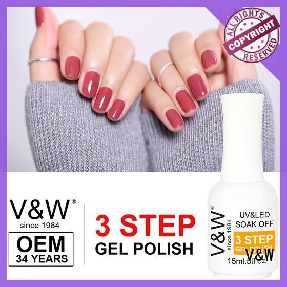VW glitter uv cured nail polish eco friendly for evening party