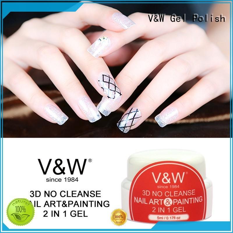 VW Brand extend fabric acid UV Gel Polish Wholesale