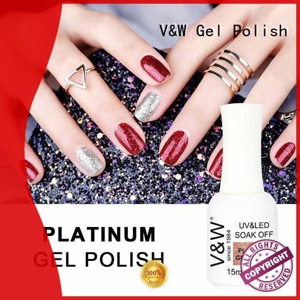VW glitter led nail varnish mood changing for daily life