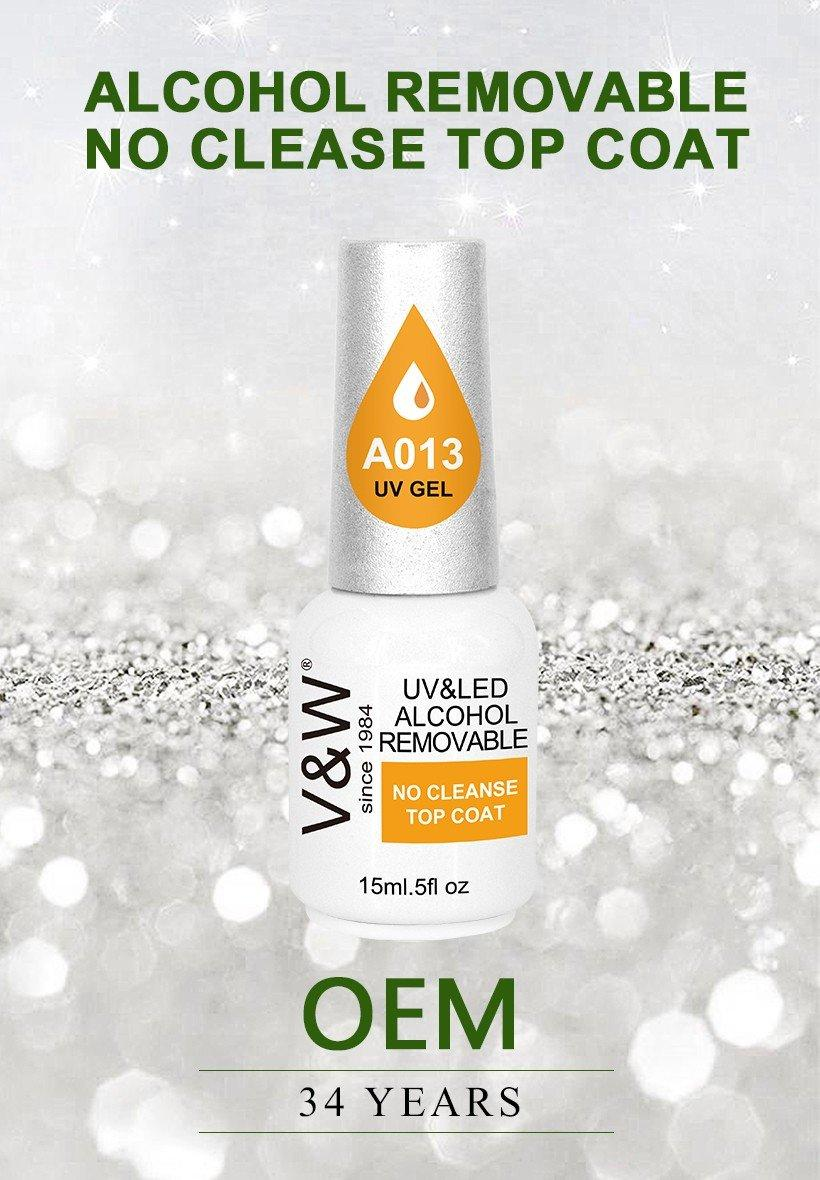 VW-Best Alcohol Removable No Cleanse Soak Off Top Coat Gel Manufacture-1