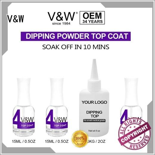 VW acrylic tip and dip nails easy remove for office