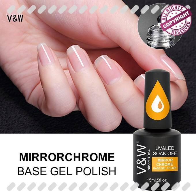 VW metallic gel nail polish for led lamp manufacturer for wedding