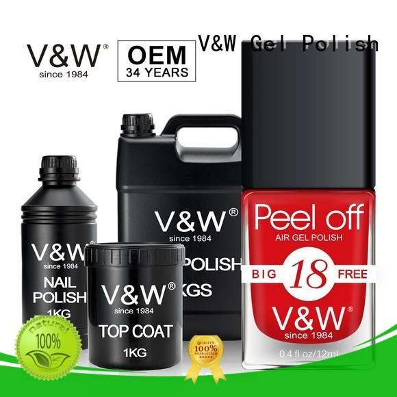 VW peel off mood gel nail polish wholesale for office