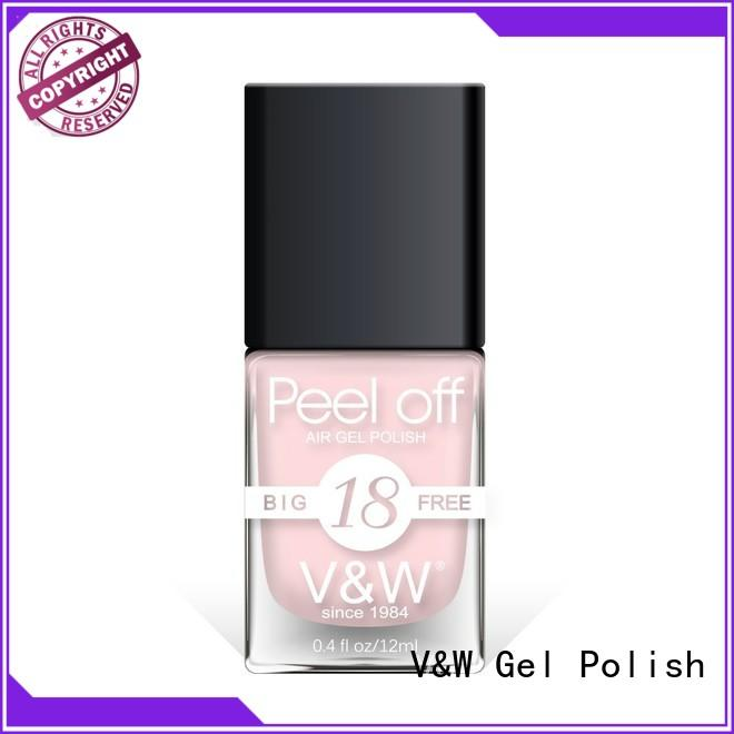 VW remover metallic pink nail polish esay remove for office