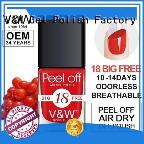 VW day light color nail polish eco friendly for wedding