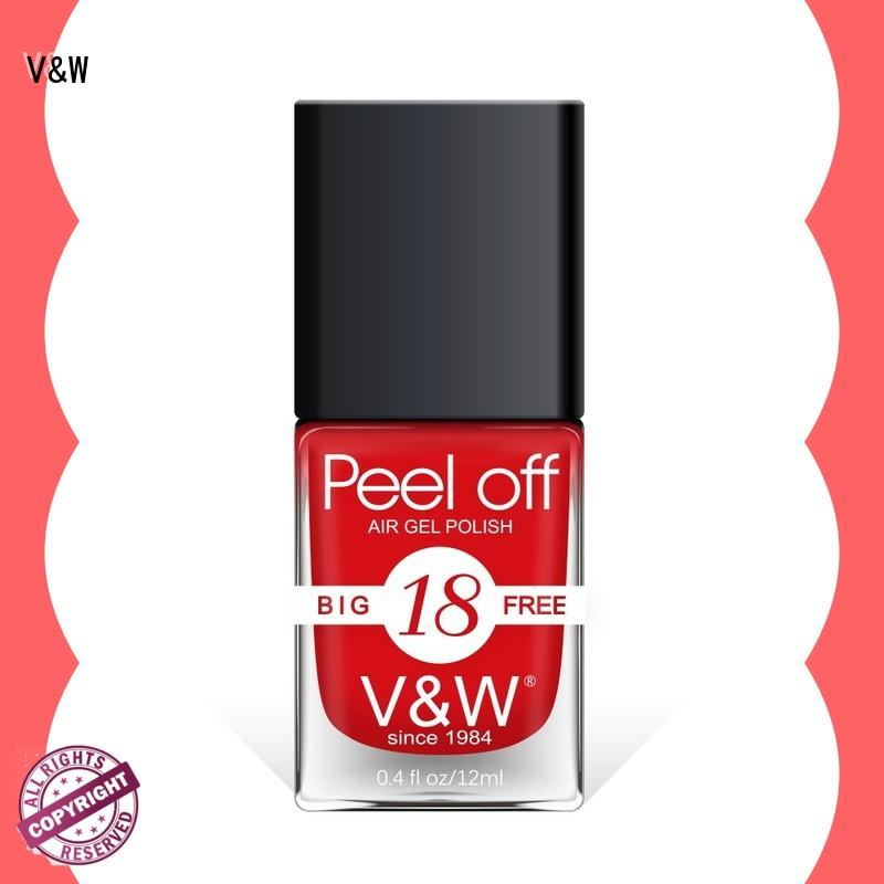 VW professional hot pink nail polish esay remove for home