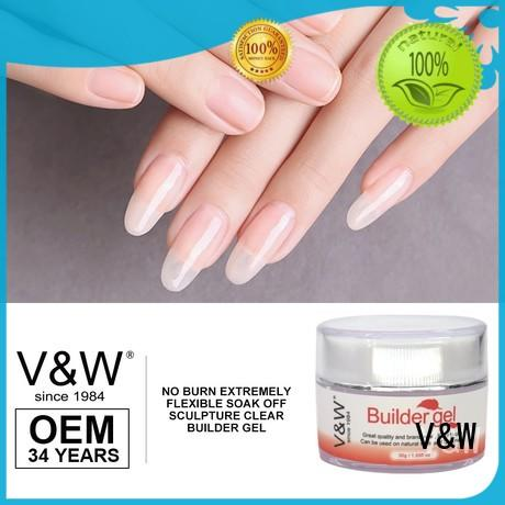 VW led gel nails without uv mood changing for evening party