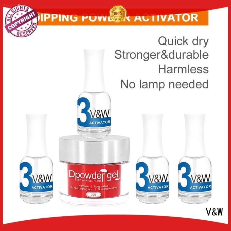 easy hot sale Wholesale dip dip powder nail polish VW Brand remove quick