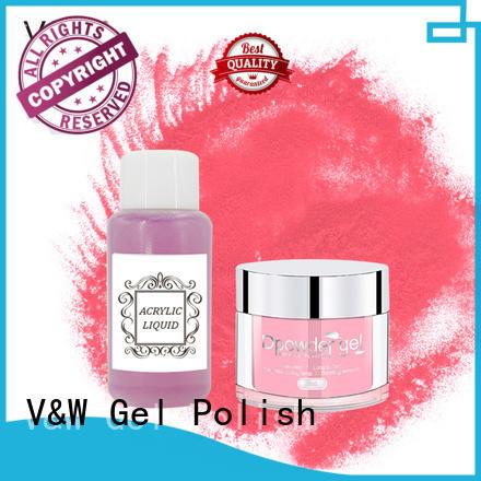 dip powder nail polish acrylic gel art VW Brand dip powder polish